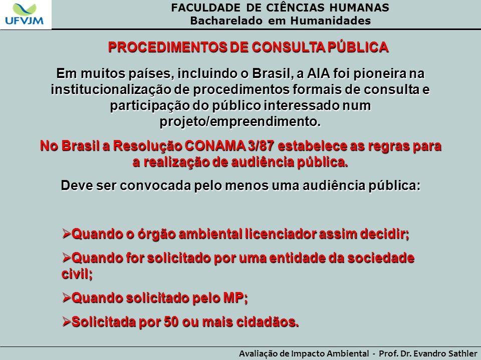 PROCEDIMENTOS DE CONSULTA PÚBLICA