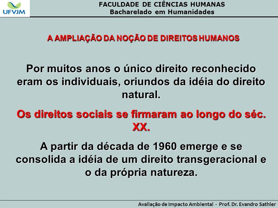 Os direitos sociais se firmaram ao longo do séc. XX.