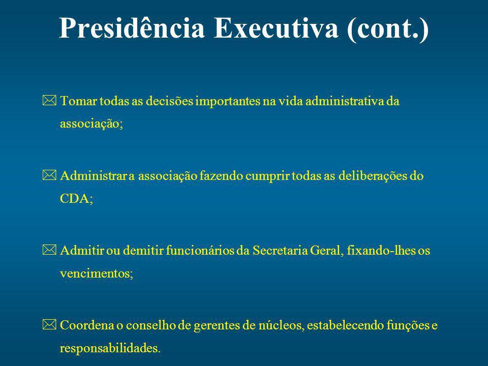 Presidência Executiva (cont.)