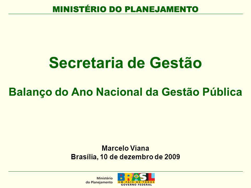 Secretaria de Gestão Balanço do Ano Nacional da Gestão Pública