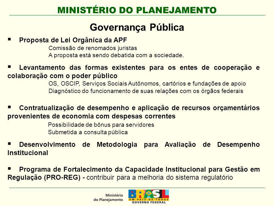 Governança Pública Proposta de Lei Orgânica da APF