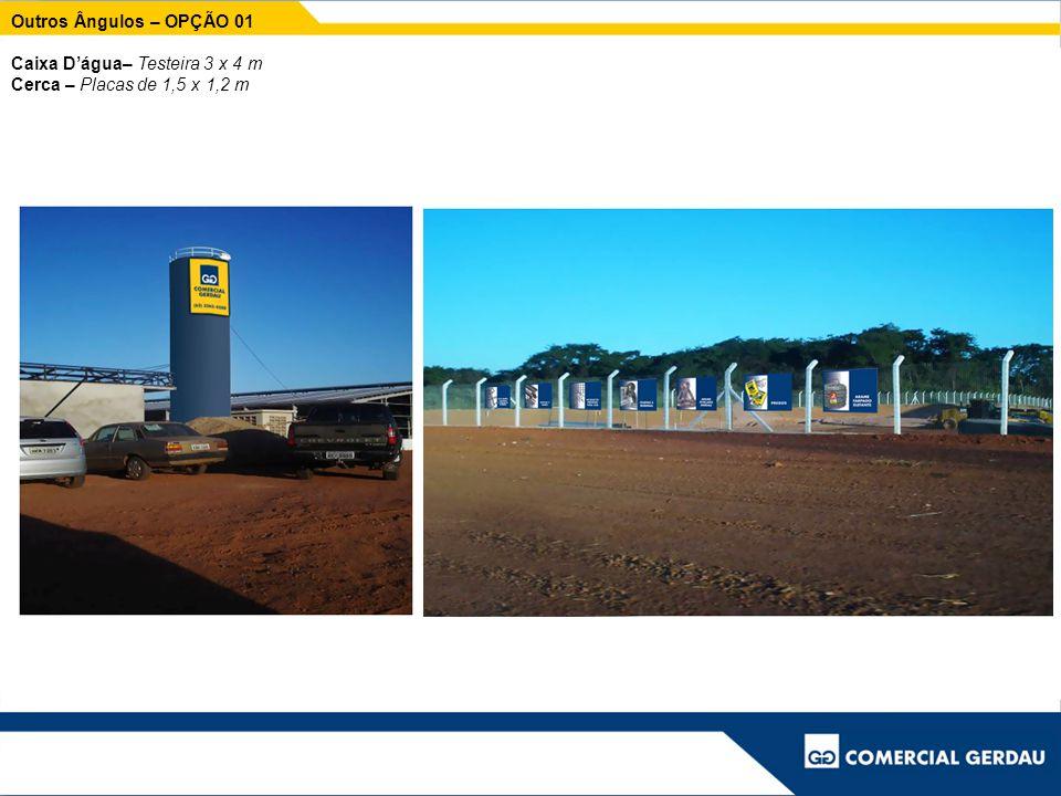 Outros Ângulos – OPÇÃO 01 Caixa D'água– Testeira 3 x 4 m Cerca – Placas de 1,5 x 1,2 m