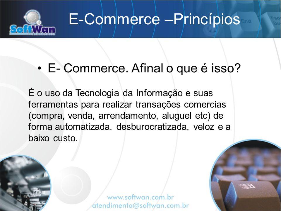 E-Commerce –Princípios