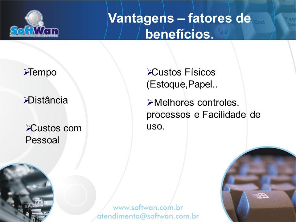 Vantagens – fatores de benefícios.