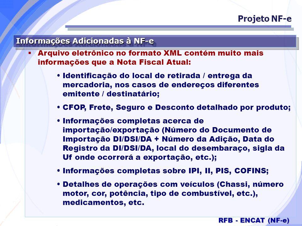 Projeto NF-e Informações Adicionadas à NF-e