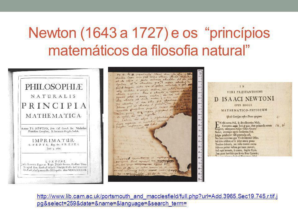 Newton (1643 a 1727) e os princípios matemáticos da filosofia natural