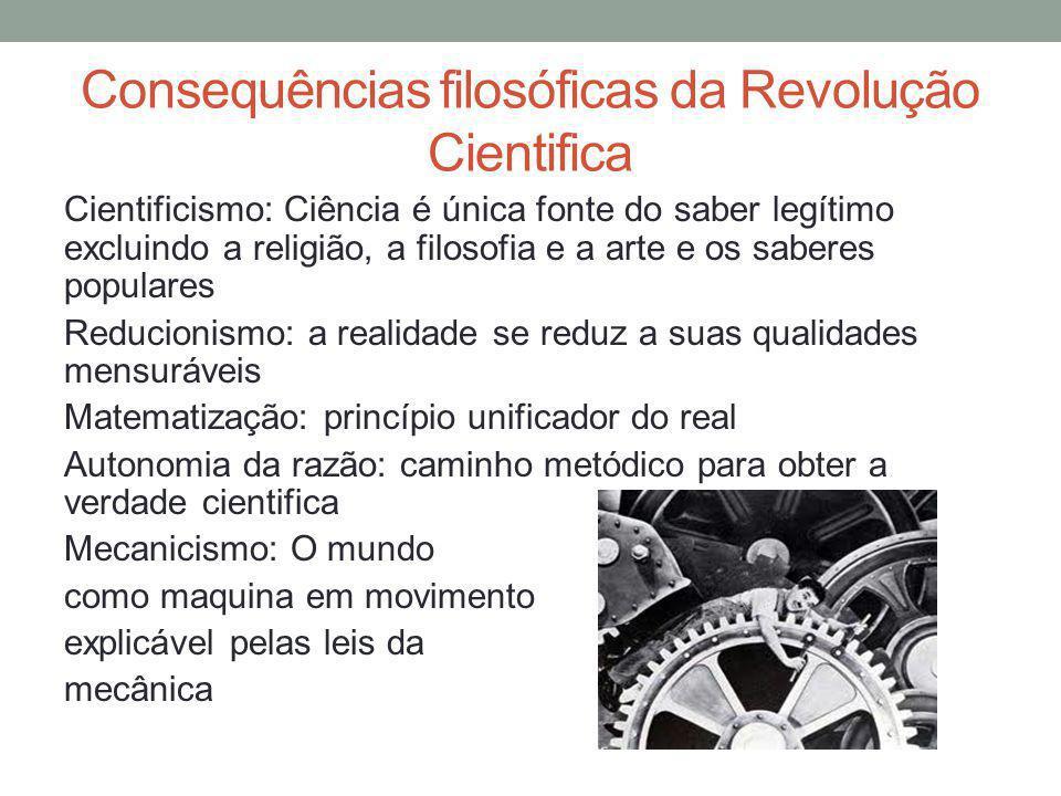 Consequências filosóficas da Revolução Cientifica
