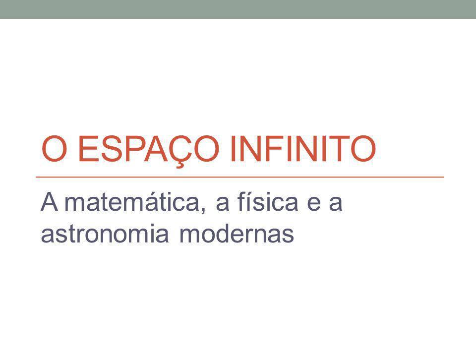 A matemática, a física e a astronomia modernas