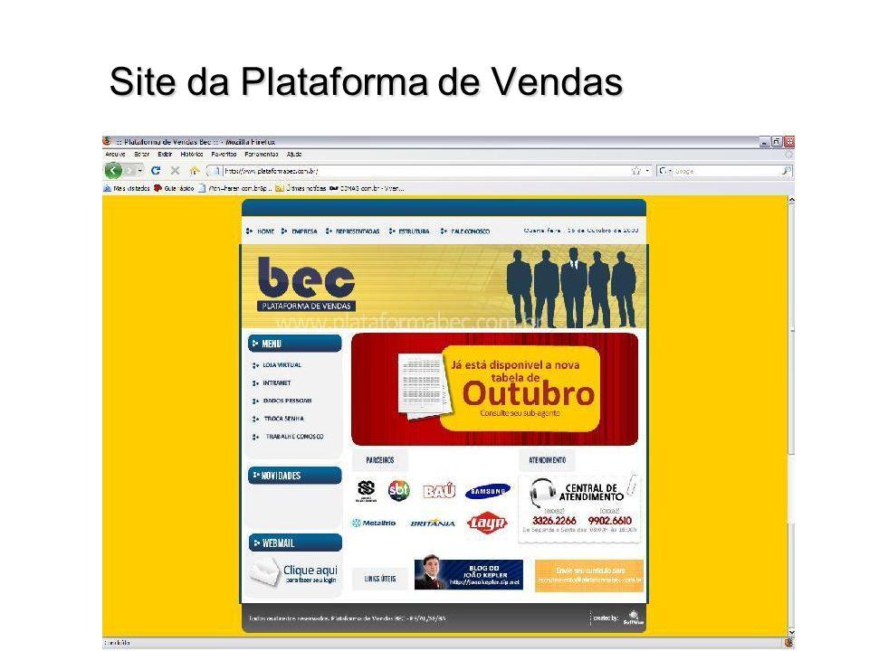 Site da Plataforma de Vendas
