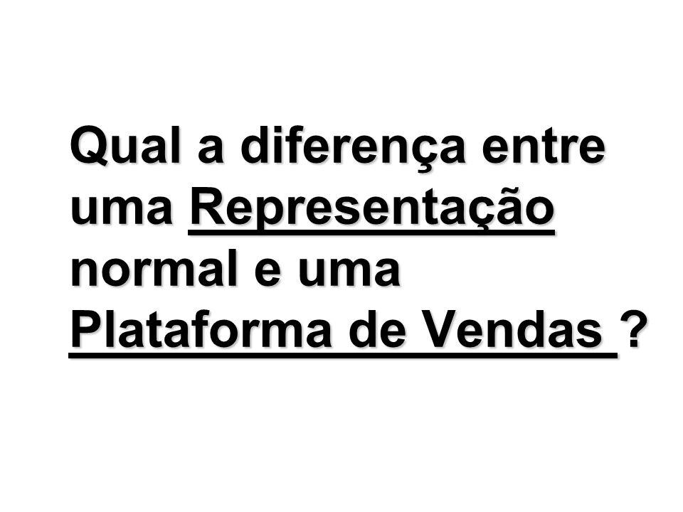 Qual a diferença entre uma Representação normal e uma Plataforma de Vendas