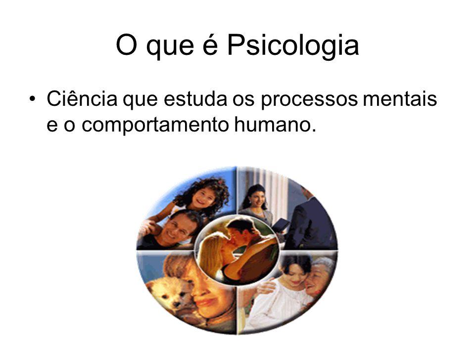 O que é Psicologia Ciência que estuda os processos mentais e o comportamento humano.