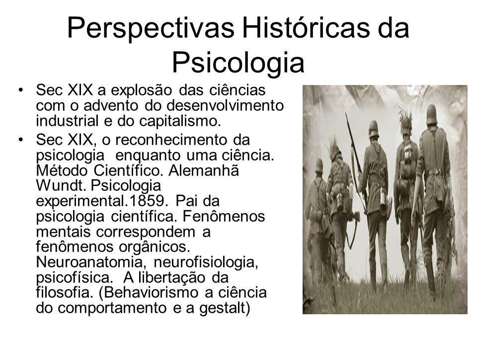 Perspectivas Históricas da Psicologia
