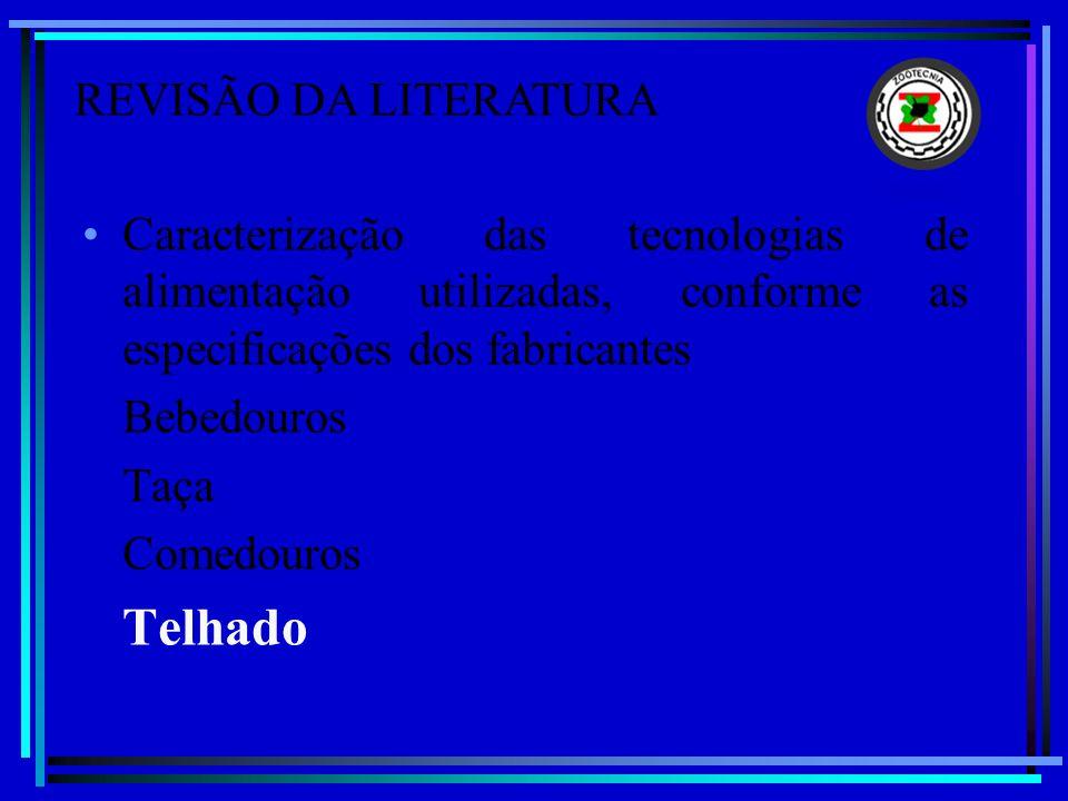 REVISÃO DA LITERATURA Caracterização das tecnologias de alimentação utilizadas, conforme as especificações dos fabricantes.