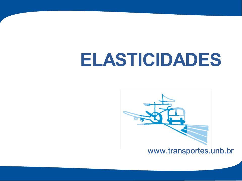Elasticidades www.transportes.unb.br 1