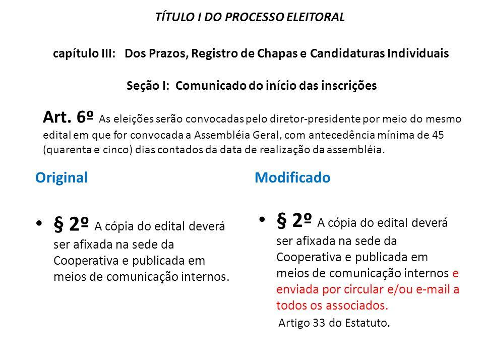TÍTULO I DO PROCESSO ELEITORAL