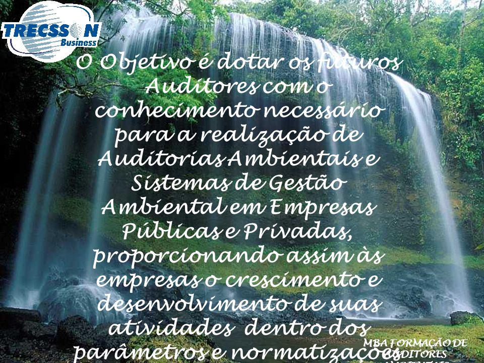 MBA FORMAÇÃO DE AUDITORES AMBIENTAIS