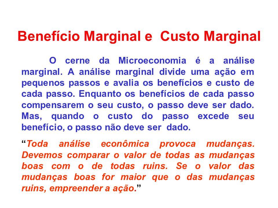 Benefício Marginal e Custo Marginal