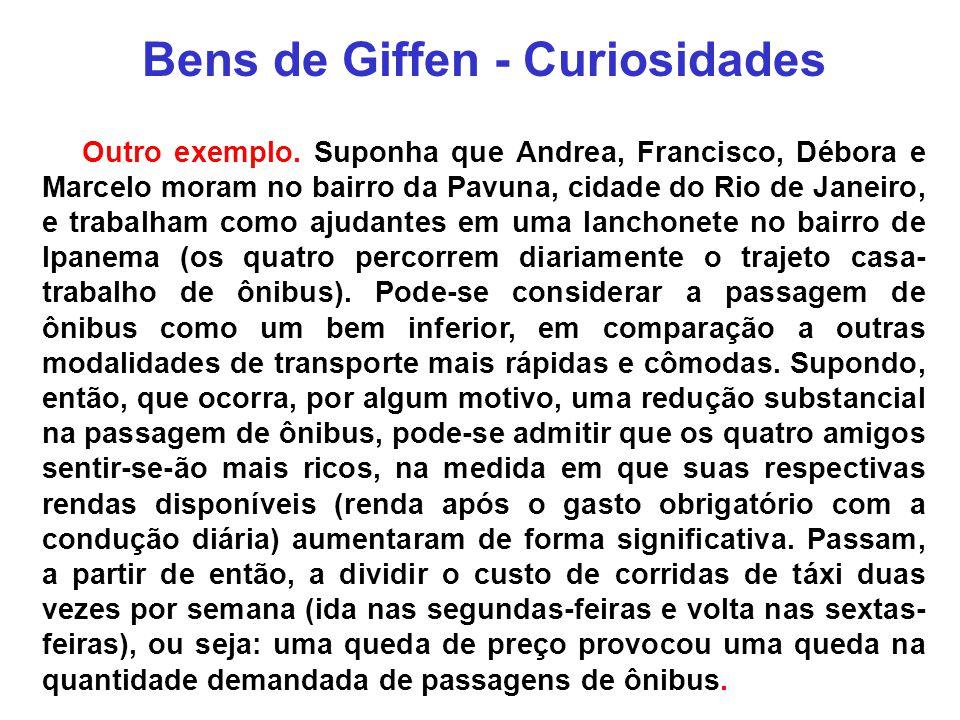 Bens de Giffen - Curiosidades
