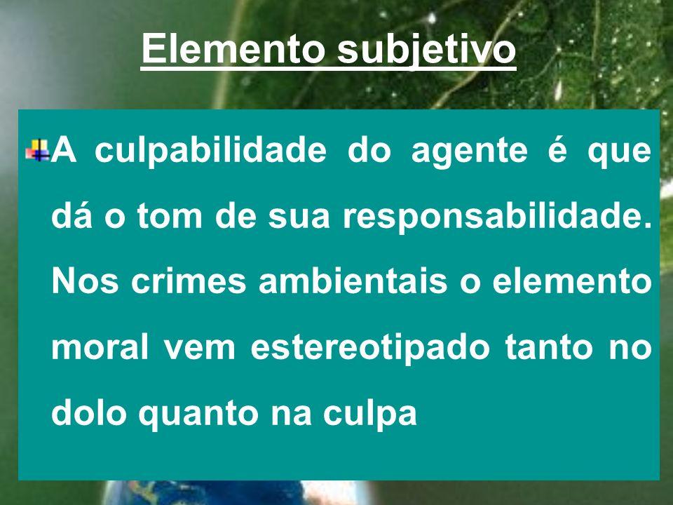 Elemento subjetivo