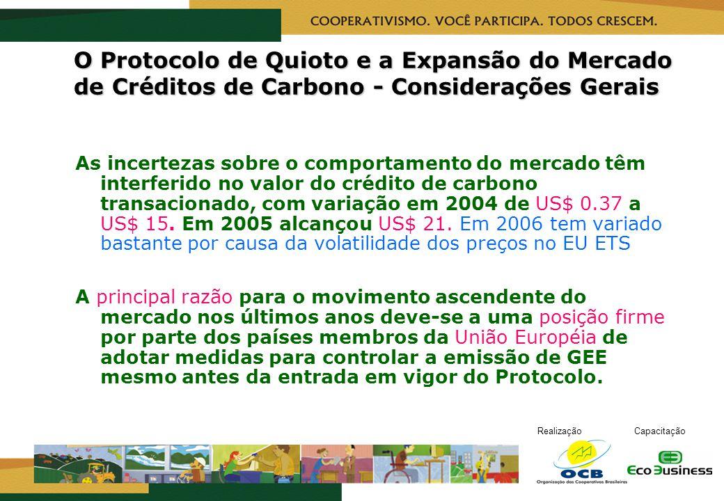 O Protocolo de Quioto e a Expansão do Mercado de Créditos de Carbono - Considerações Gerais