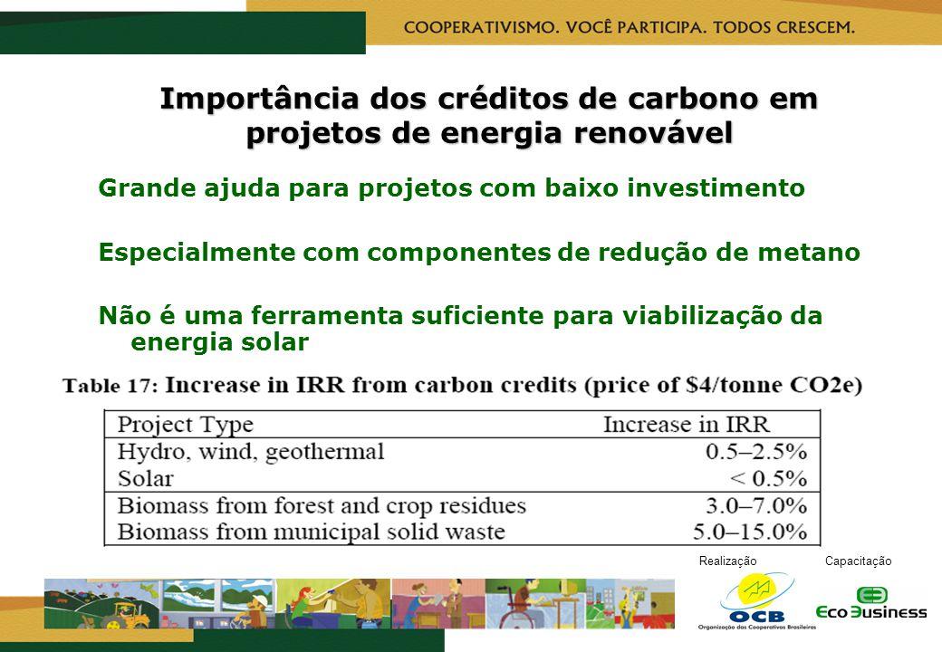 Importância dos créditos de carbono em projetos de energia renovável