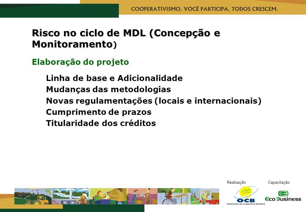 Risco no ciclo de MDL (Concepção e Monitoramento)