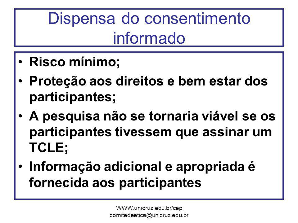 Dispensa do consentimento informado