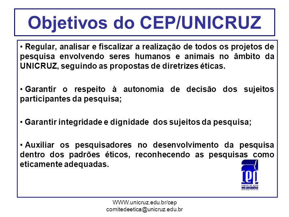 Objetivos do CEP/UNICRUZ