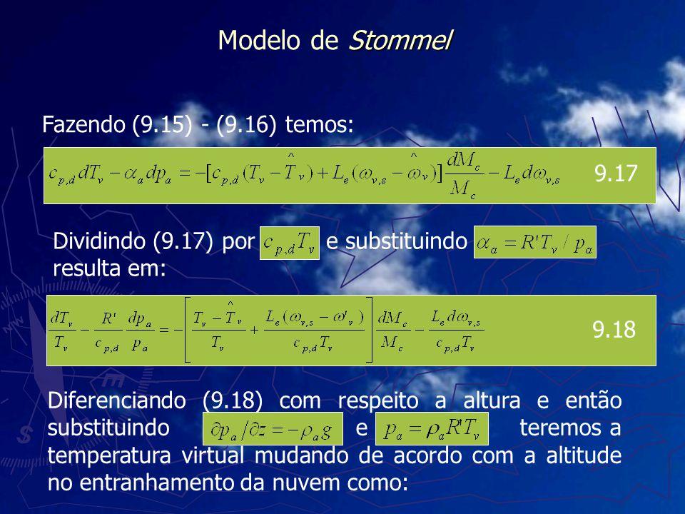 Modelo de Stommel Fazendo (9.15) - (9.16) temos: 9.17