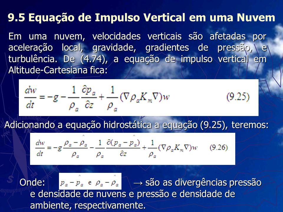 9.5 Equação de Impulso Vertical em uma Nuvem