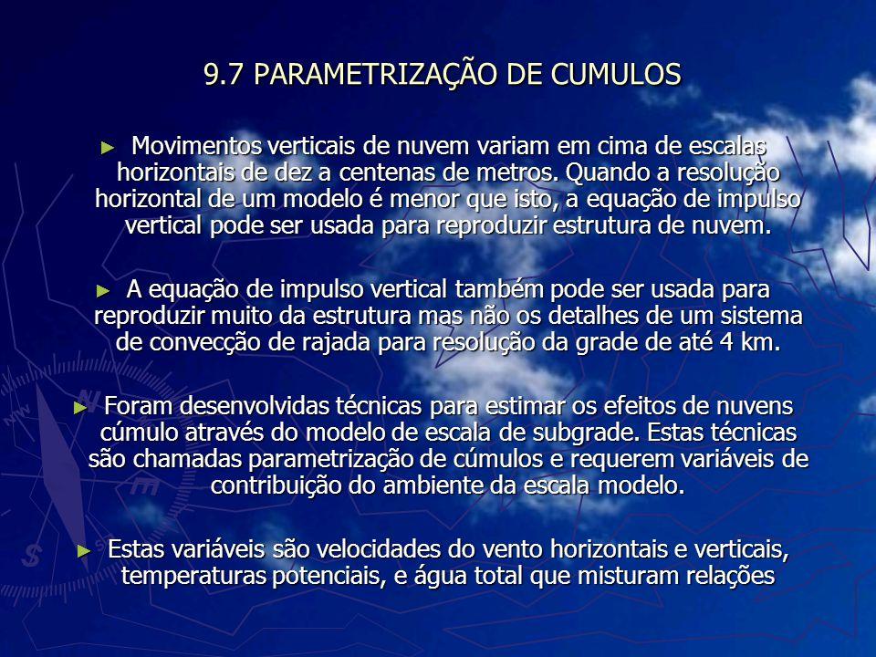 9.7 PARAMETRIZAÇÃO DE CUMULOS