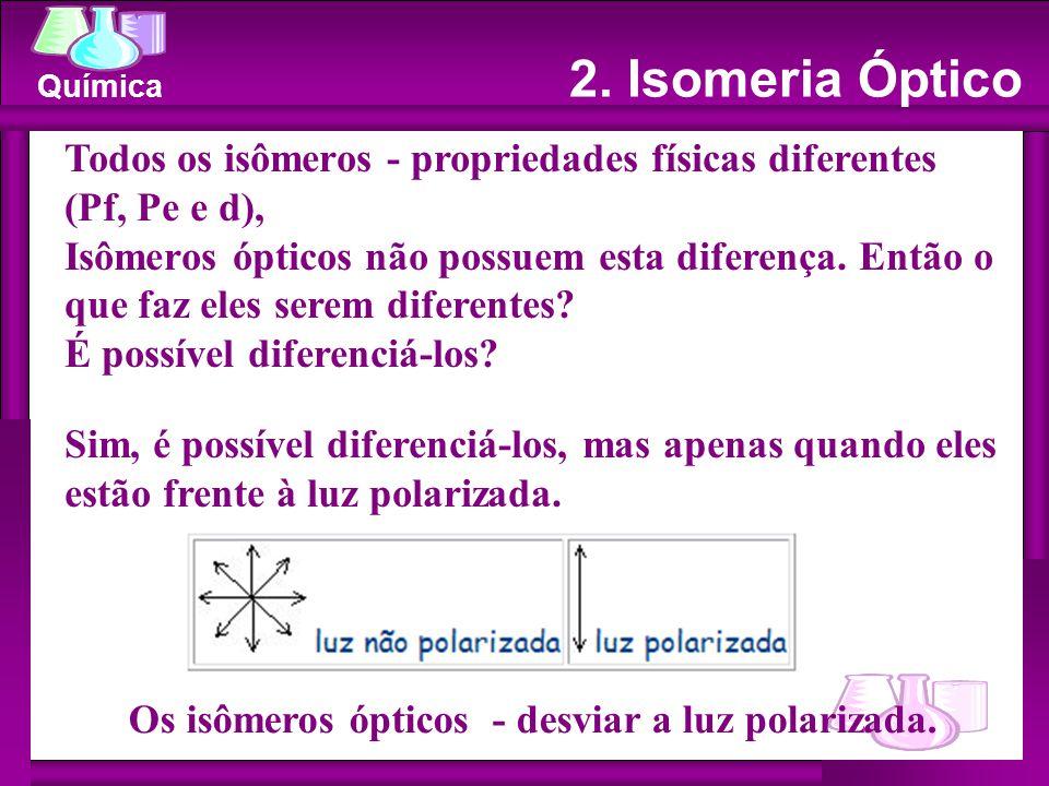 Os isômeros ópticos - desviar a luz polarizada.