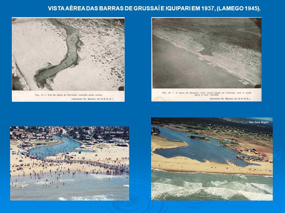 VISTA AÉREA DAS BARRAS DE GRUSSAÍ E IQUIPARI EM 1937, (LAMEGO 1945).