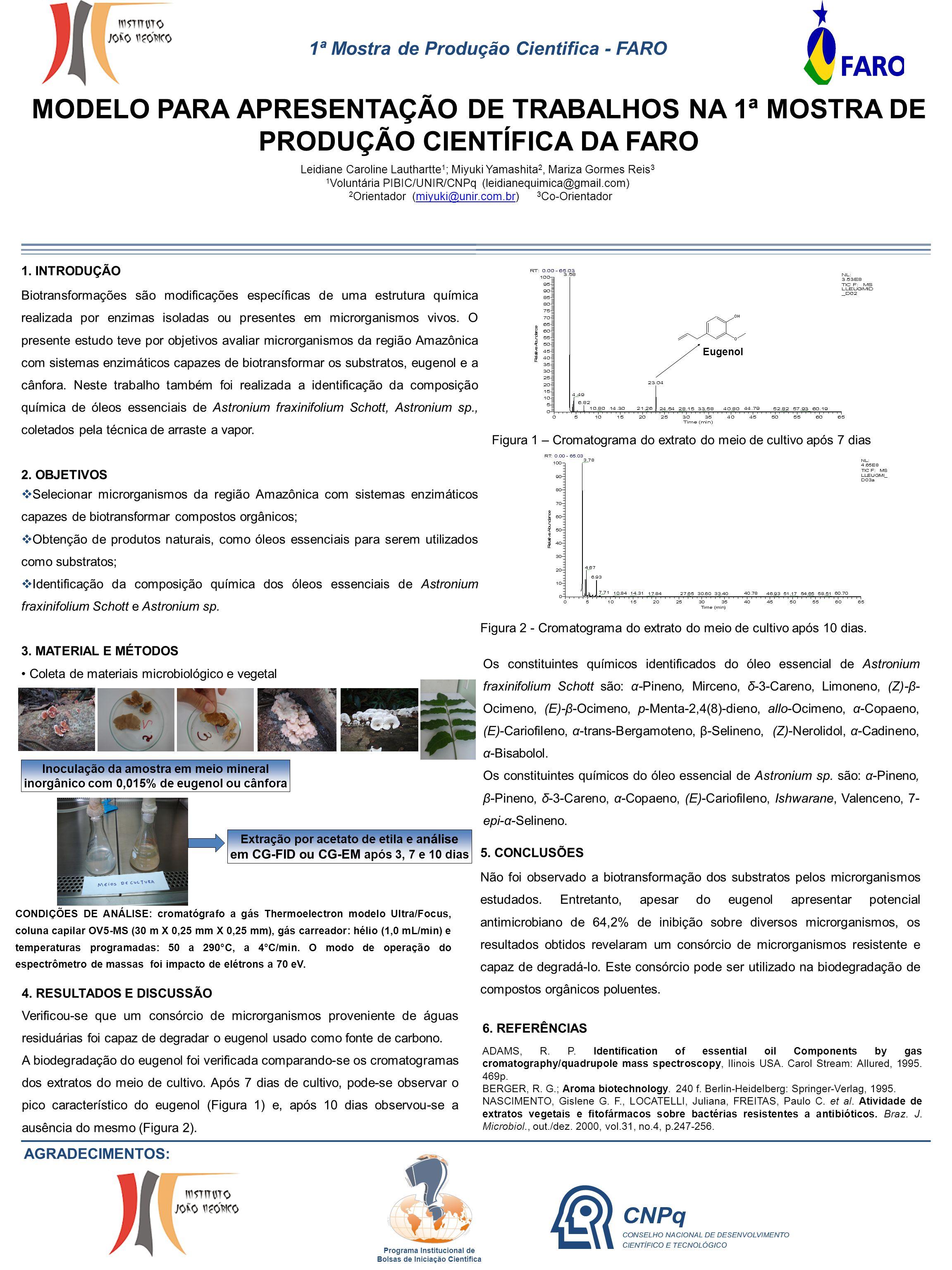 1ª Mostra de Produção Cientifica - FARO