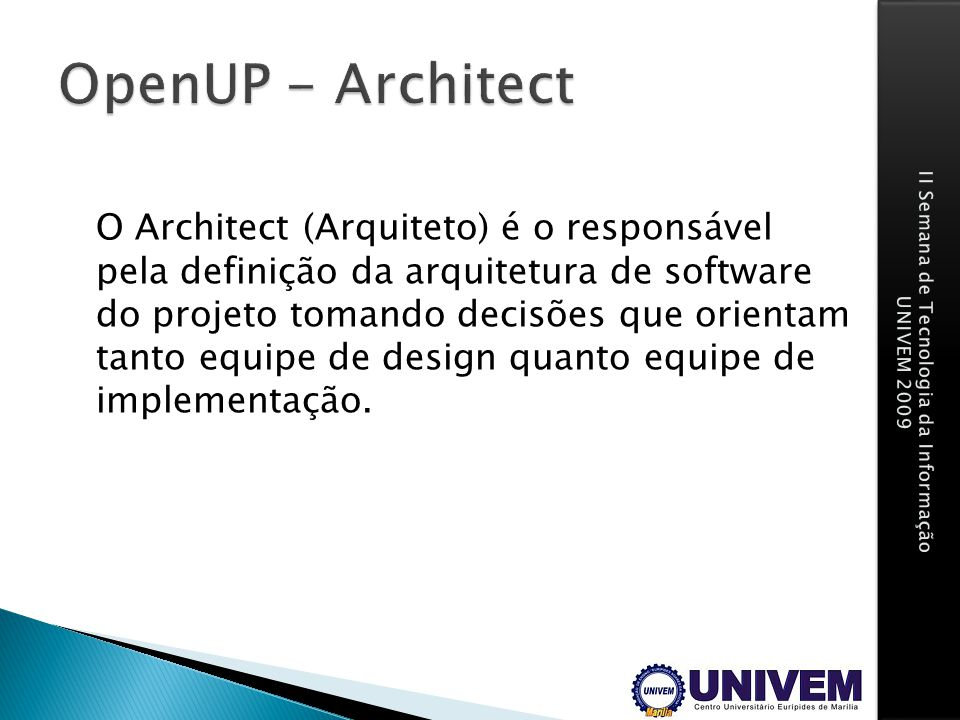 OpenUP - Architect