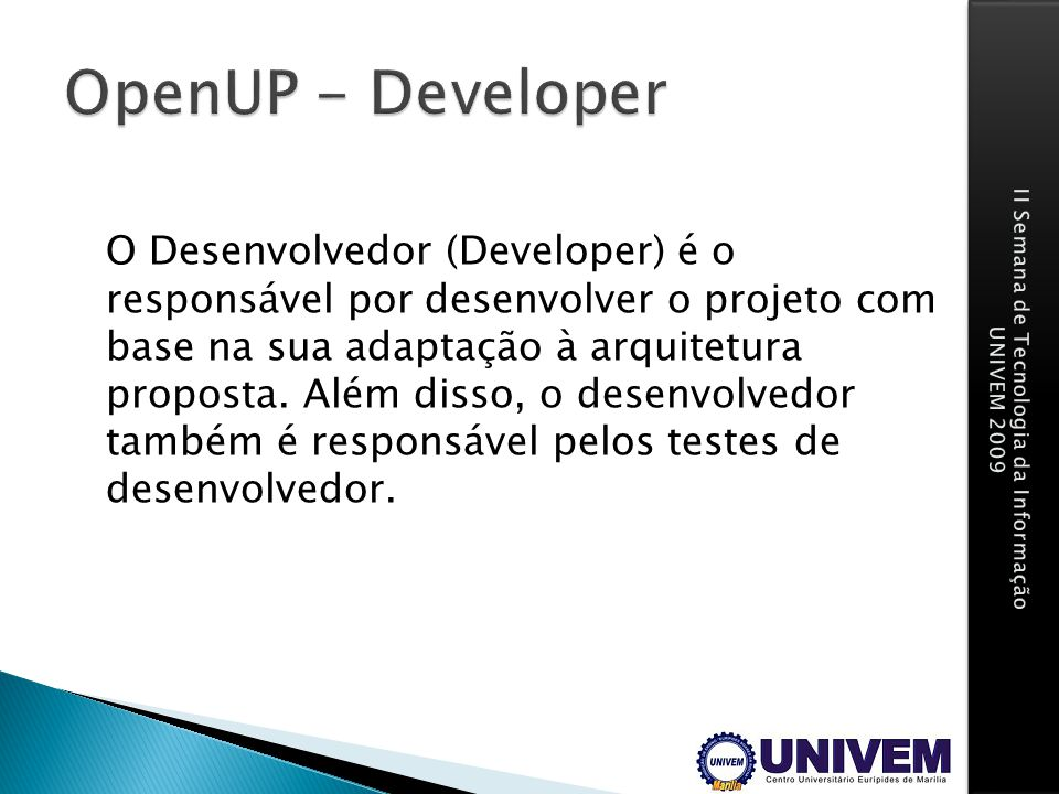 OpenUP - Developer
