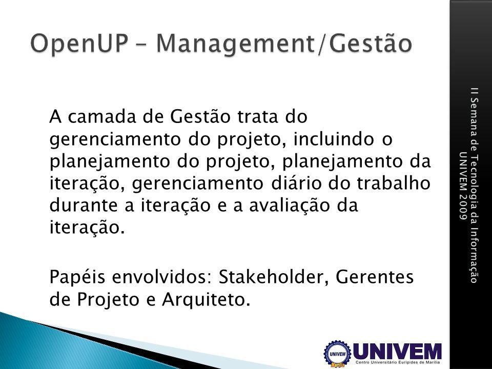 OpenUP – Management/Gestão
