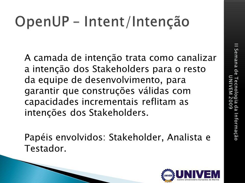 OpenUP – Intent/Intenção