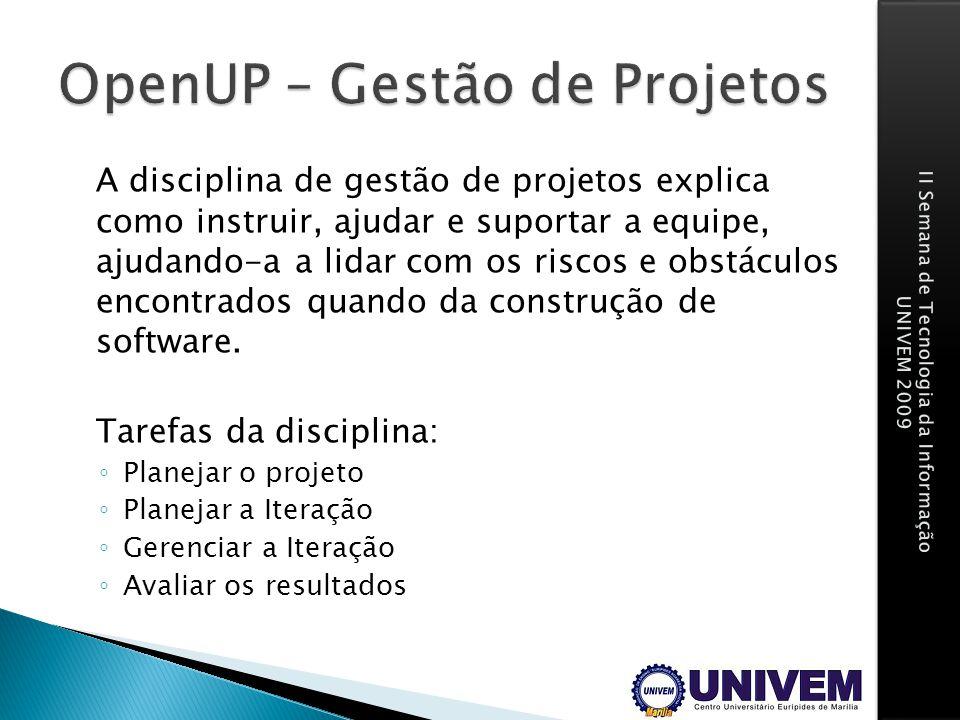 OpenUP – Gestão de Projetos
