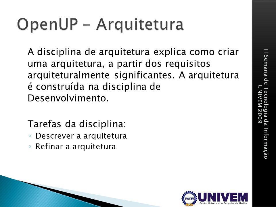 OpenUP - Arquitetura