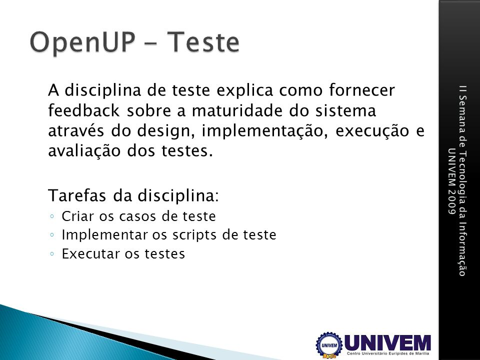 OpenUP - Teste