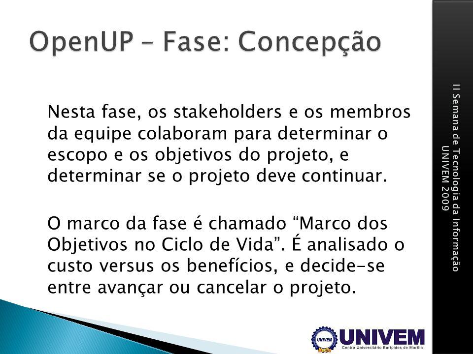 OpenUP – Fase: Concepção