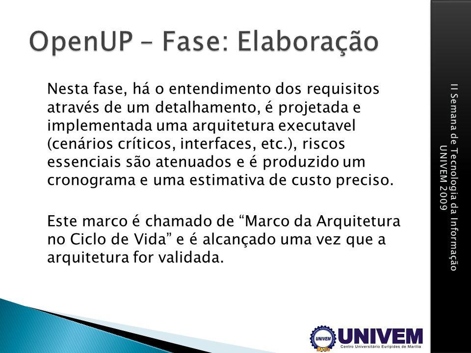 OpenUP – Fase: Elaboração
