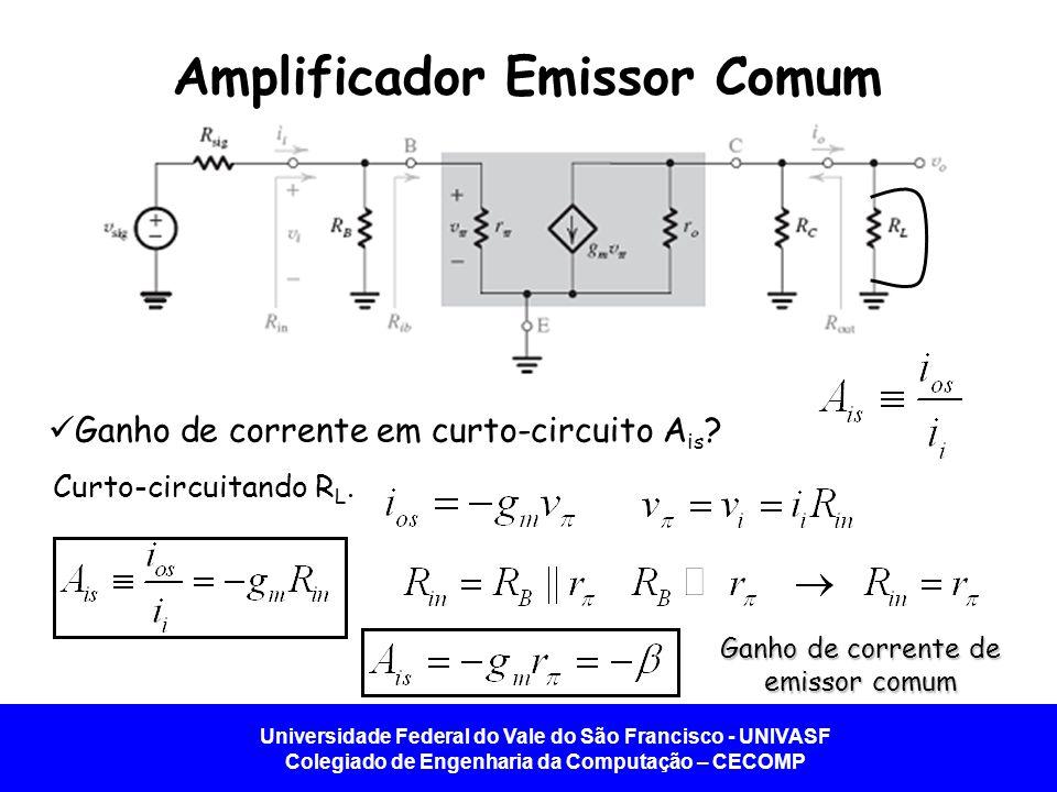 Amplificador Emissor Comum