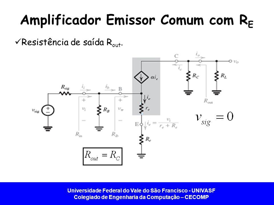 Amplificador Emissor Comum com RE