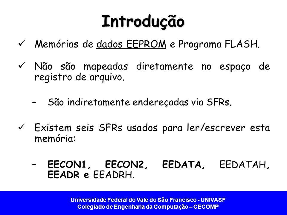Introdução Memórias de dados EEPROM e Programa FLASH.