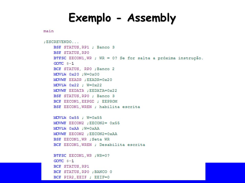 Exemplo - Assembly