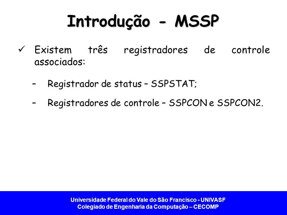Introdução - MSSP Existem três registradores de controle associados: