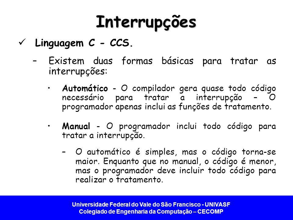 Interrupções Linguagem C - CCS.