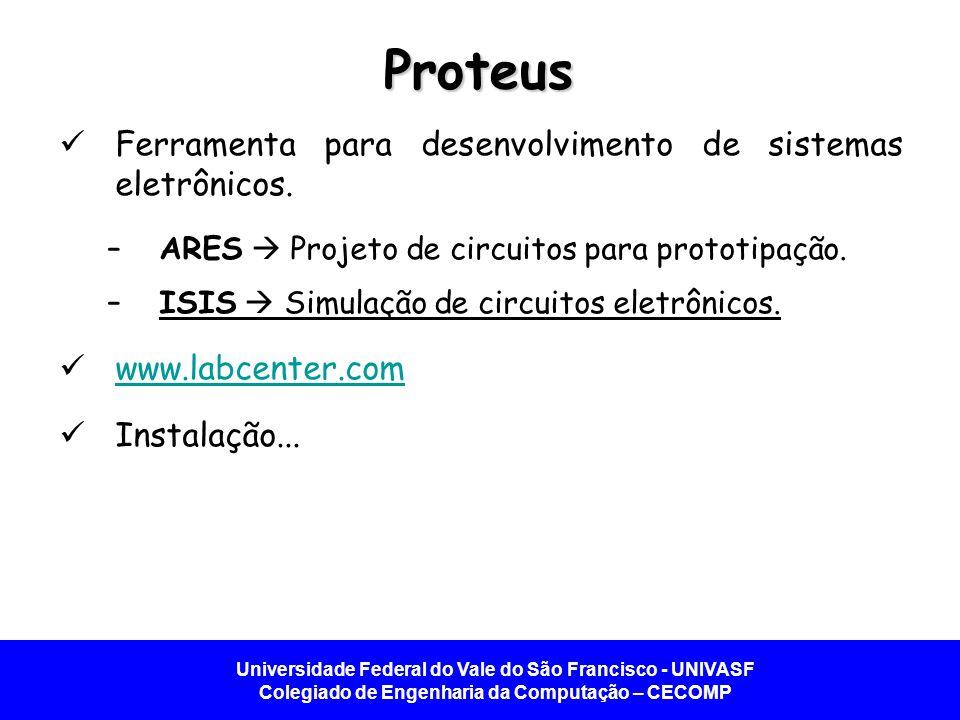 Proteus Ferramenta para desenvolvimento de sistemas eletrônicos.
